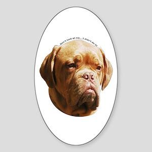 Dogue De Bordeaux Oval Sticker