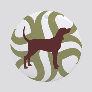 Coonhound Tribal Ornament (Round)