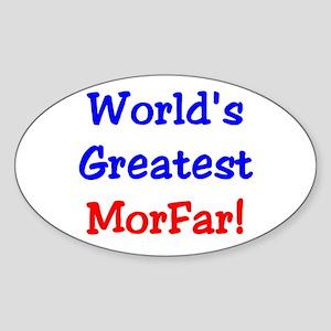 World's Greatest Morfar Oval Sticker