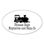 Phineas Gage Explosives Oval Sticker (10 pk)