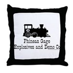 Phineas Gage Explosives Throw Pillow