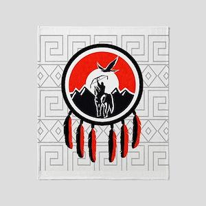 Indian Shield Throw Blanket