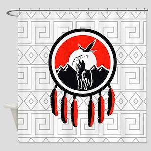 Indian Shield Shower Curtain