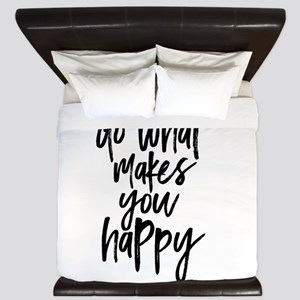 Do What Makes You Happy Typography King Duvet