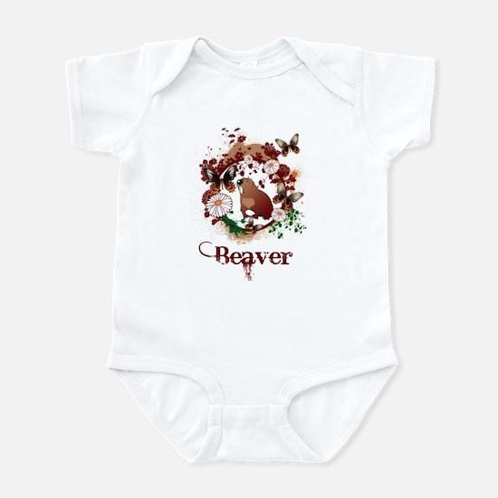 Butterfly Beaver Infant Bodysuit