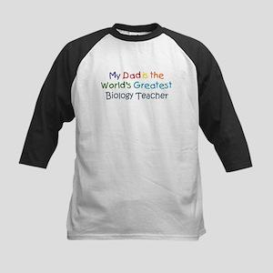 Greatest Biology Teacher Kids Baseball Jersey
