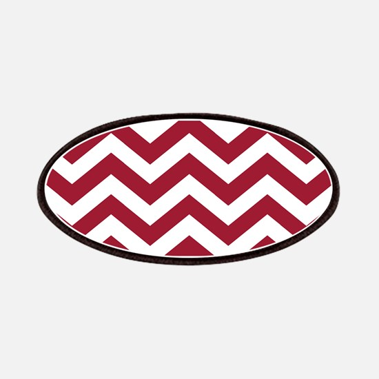 Crimson Red: Chevron Pattern Patch