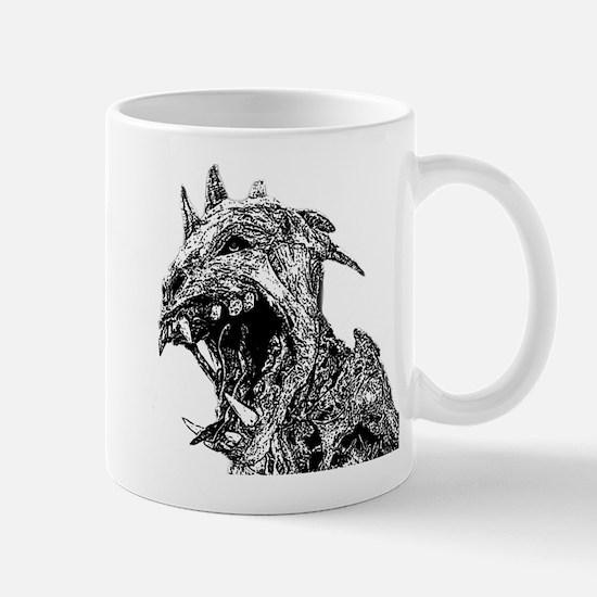 black and white chupacabra Mug