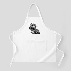 black and white chupacabra BBQ Apron