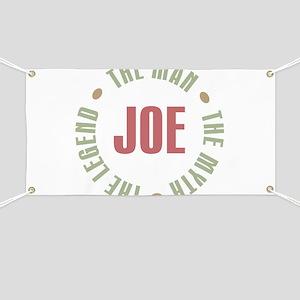 Joe Man Myth Legend Banner