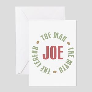 Joe Man Myth Legend Greeting Card