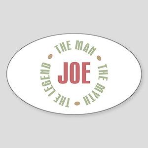 Joe Man Myth Legend Oval Sticker