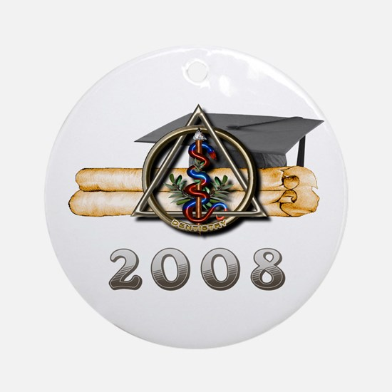 Dental Grad 2008 Ornament (Round)