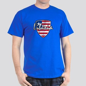 Liberian distressed flag Dark T-Shirt