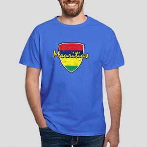 Mauritius distressed Flag Dark T-Shirt