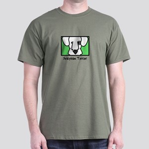Anime Badger Sealyham Terrier Dark T-Shirt