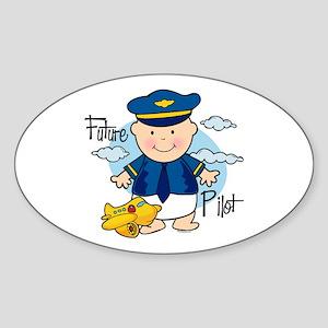 Future Pilot Oval Sticker