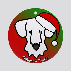 Cartoon Sealyham Terrier Christmas Ornament