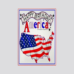 Happy B-Day America Rectangle Magnet (10 pack)