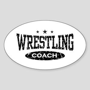 Wrestling Coach Oval Sticker