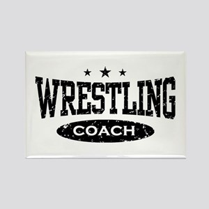 Wrestling Coach Rectangle Magnet