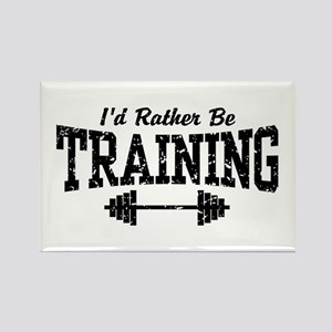 I'd Rather Be Training Rectangle Magnet