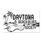 Daytona Beach Blues Society Rectangle Car Magnet