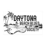 Daytona Beach Blues Society 35x21 Wall Decal