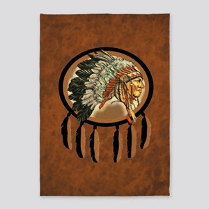 Indian Chief Shield 5'x7'Area Rug