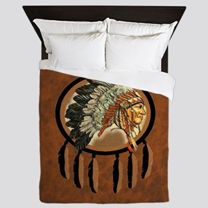 Indian Chief Shield Queen Duvet