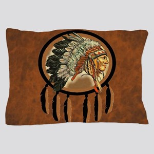Indian Chief Shield Pillow Case