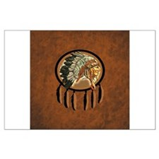 Indian Chief Shield Large Poster