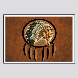 Indian Chief Shield Banner