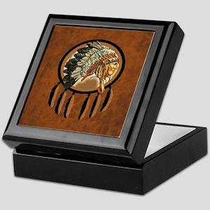 Indian Chief Shield Keepsake Box