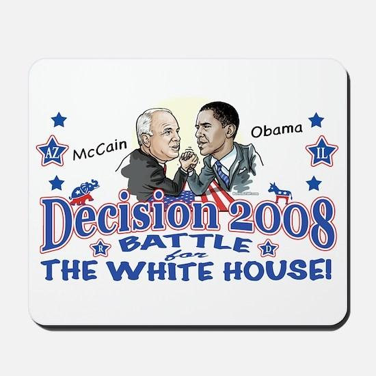 Obama vs McCain 2008 Mousepad