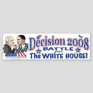 Obama vs McCain 2008 Bumper Sticker