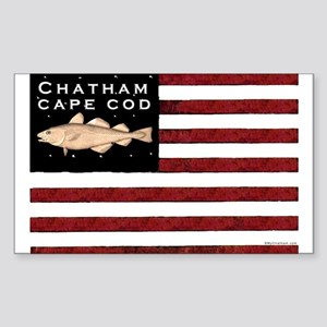 """Chatham Cape Cod"" Flag Rectangle Sticker"