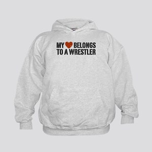 My Heart Belongs to a Wrestler Kids Hoodie