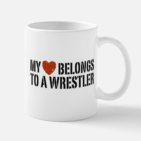 My Heart Belongs to a Wrestler Mug