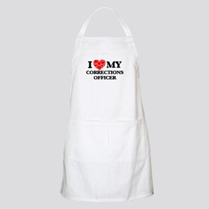 I Love my Corrections Officer Light Apron