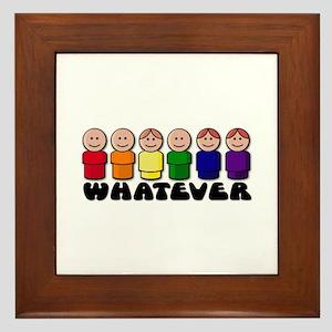 Gay Pride Whatever Framed Tile