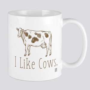 I Like Cows (brown/dark) Mugs