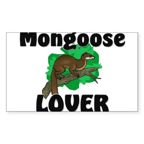 Mongoose Lover Rectangle Sticker