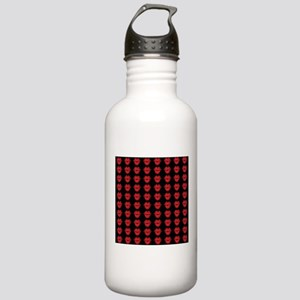 Red Lips On Black Back Stainless Water Bottle 1.0L