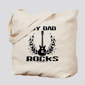 Dad Rocks Tote Bag
