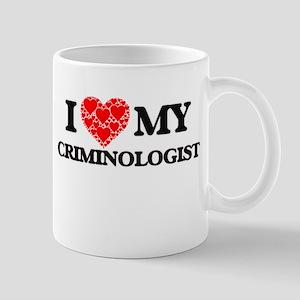 I Love my Criminologist Mugs