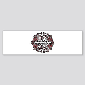 CELTIC3_RED Bumper Sticker