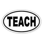 TEACH Euro Oval Sticker for Teachers