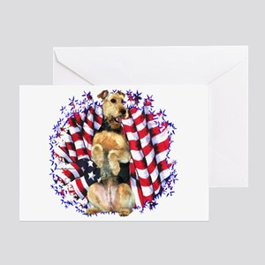 Airedale Patriotic Greeting Card