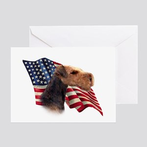 Airedale Terrier Flag Greeting Card